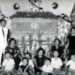 กลุ่มญาติสายรุ่งสว่างในงานศพป้ากิมเฮง