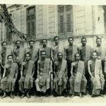 สมัยเป็นพระมหาเจริญ สุวฑฺฒโน ทรงฉายพระรูปร่วมกับคณะครูพระปริยัติธรรม สำนักเรียนวัดบวรนิเวศวิหาร