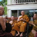 ผู้นำคณะสงฆ์พม่ามาถวายพระพร ในโอกาสวันคล้ายวันประสูติ ๙๐ ชันษา