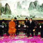 ทรงสนทนากับ ฯพณฯ เจียงเจ๋อหมิง ประธานาธิบดีสาธารณรัฐประชาชนจีน ที่ทำเนียบประธานาธิบดี